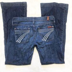 7FAM DOJO Flip Flop Darkwash Flare Jeans